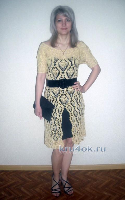 Вязаное крючком платье - работа NatalyaG. вязание и схемы вязания