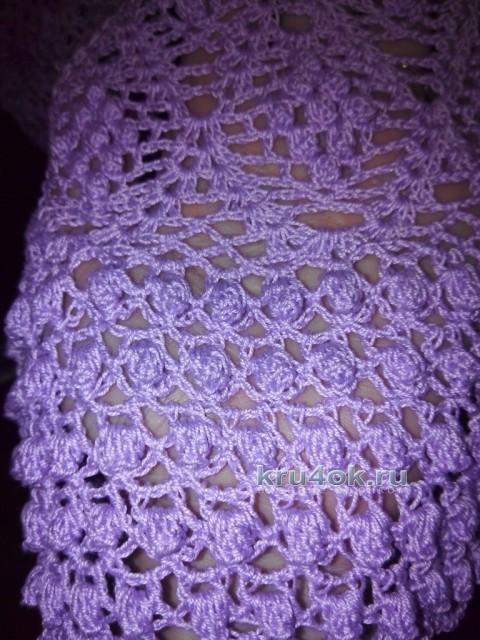 Вязаное крючком платье - работа Нины вязание и схемы вязания