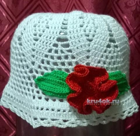 Вязаные крючком шапоки - работы Анжелики Романюк вязание и схемы вязания