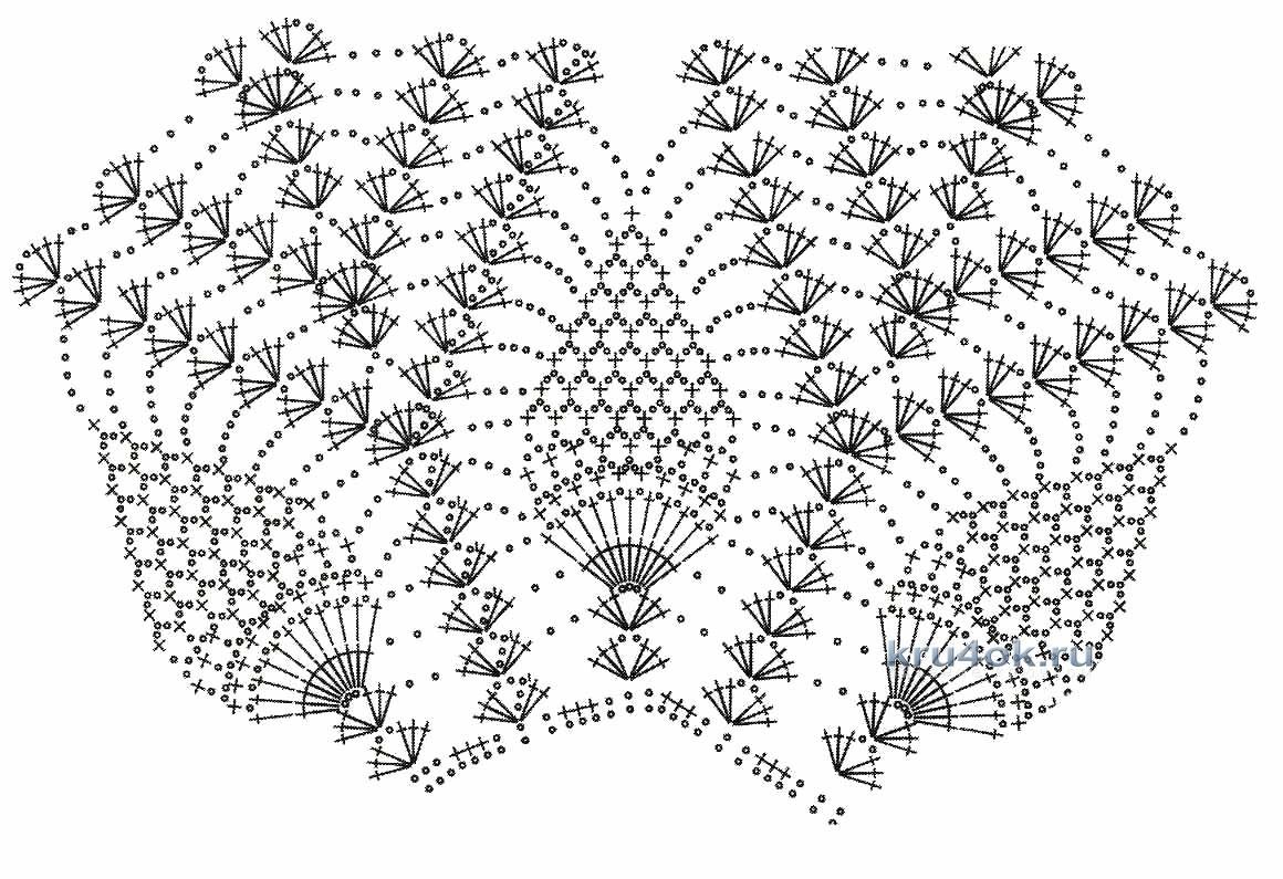 кокетка рисунок ананас крючком схема