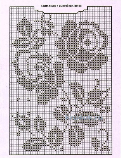Вязаный крючком топ - работа Ирины Стильник вязание и схемы вязания