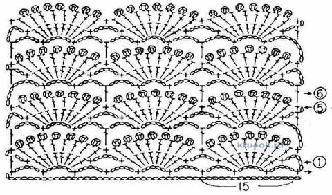 Вязаный крючком топ - работа Натальи Гуляк вязание и схемы вязания