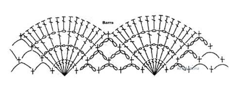 Вязаный крючком жакет - работа Ирины Стильник вязание и схемы вязания