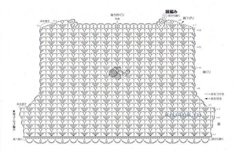 Вязаный крючком жакет - работа Ольги вязание и схемы вязания