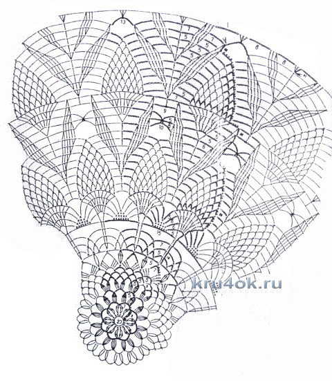Вязаный крючком жакет - работа Валентины Литвиновой вязание и схемы вязания