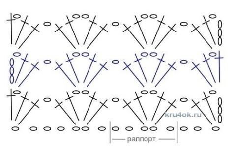 Вязаный топ - работа Натальи Гуляк вязание и схемы вязания