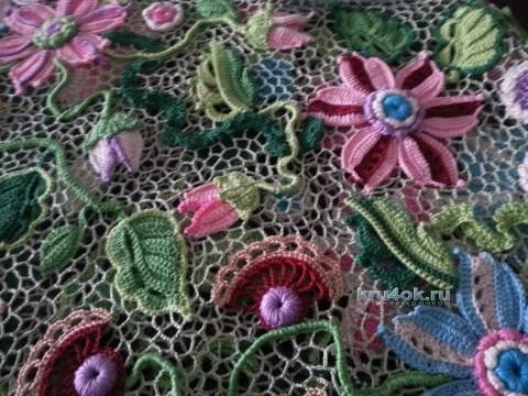 Юбка для девочки в технике ирландского кружева вязание и схемы вязания