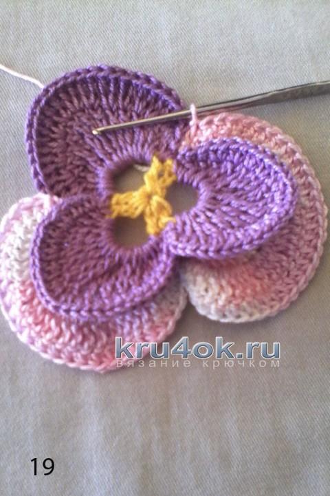Мастер - класс цветы крючком
