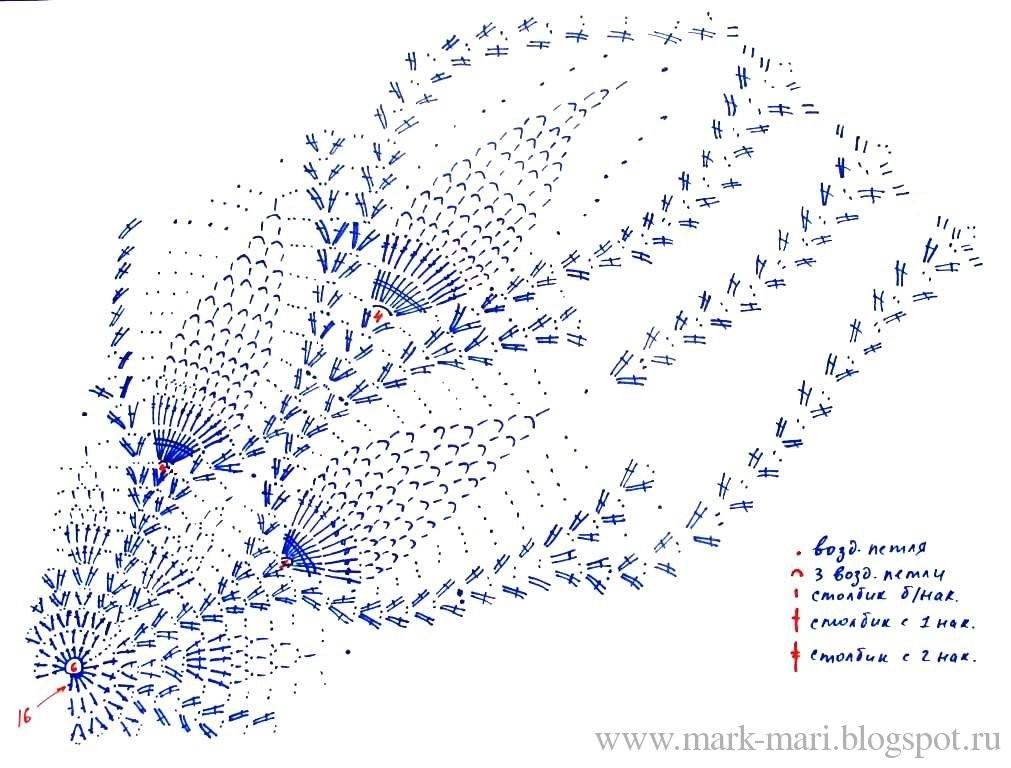 Схемы вязание крючком берета для девочки