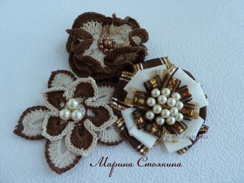 Детский плед крючком - работа Марины Стоякиной вязание и схемы вязания