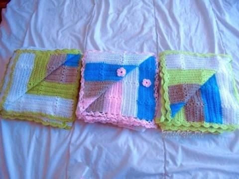 Детский плед крючком - работа Натальи Трусовой вязание и схемы вязания