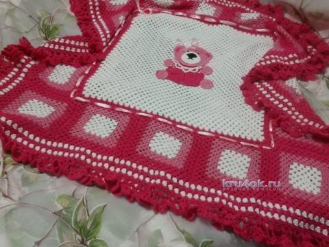 Детский плед крючком - работа Оксаны Усмановой вязание и схемы вязания