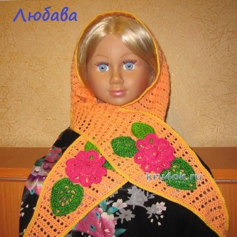 Детский шарф крючком - работа Любавы вязание и схемы вязания
