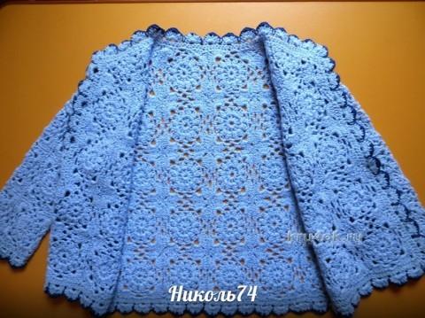 Кофточка для девочки - работа Николь вязание и схемы вязания
