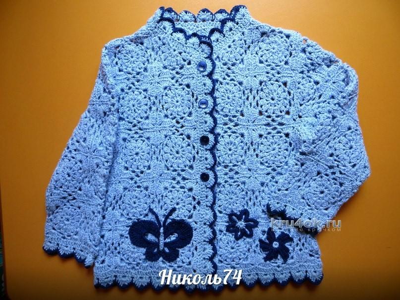Вязанье летней кофточки для девочки 790