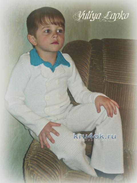 Костюм для мальчика крючком - работа Юлии вязание и схемы вязания