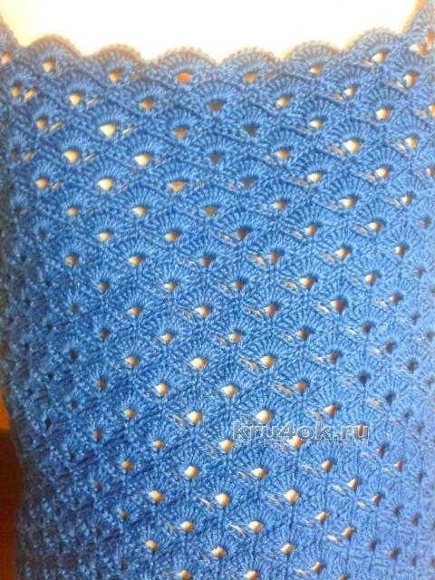 Летний топ для девочки крючком - работа Арины вязание и схемы вязания