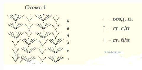 Летний топ крючком - работа Любови вязание и схемы вязания