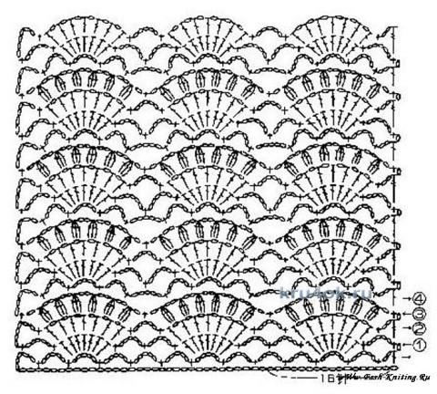 Летний топик для девочки схема вязания
