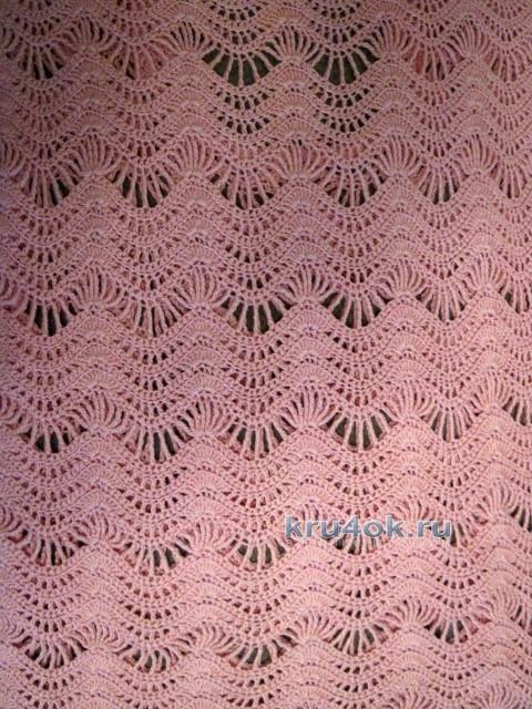 Летняя блуза крючком - работа Любови вязание и схемы вязания