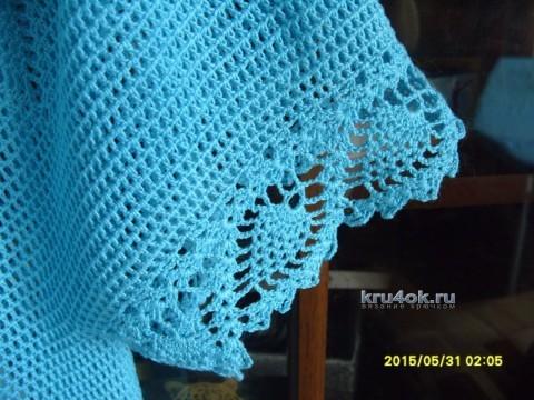 Летняя кофточка крючком - работа Алны вязание и схемы вязания