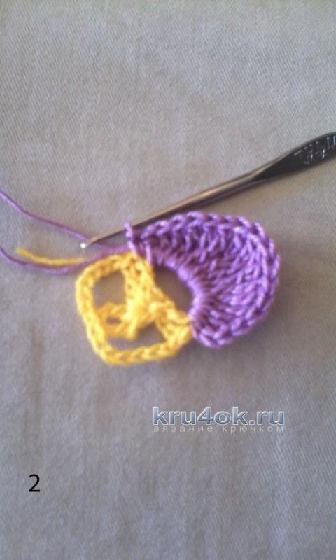Мастер - класс Анютины глазки крючком вязание и схемы вязания