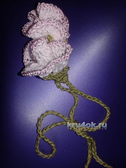 Мастер класс Бутон розы крючком вязание и схемы вязания