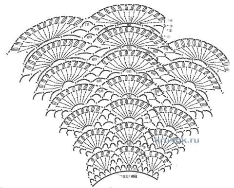 Платье для девочки - работа Анны Назаренко вязание и схемы вязания