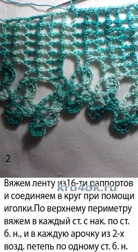 Платье для девочки Бирюза. Мастер - класс! вязание и схемы вязания