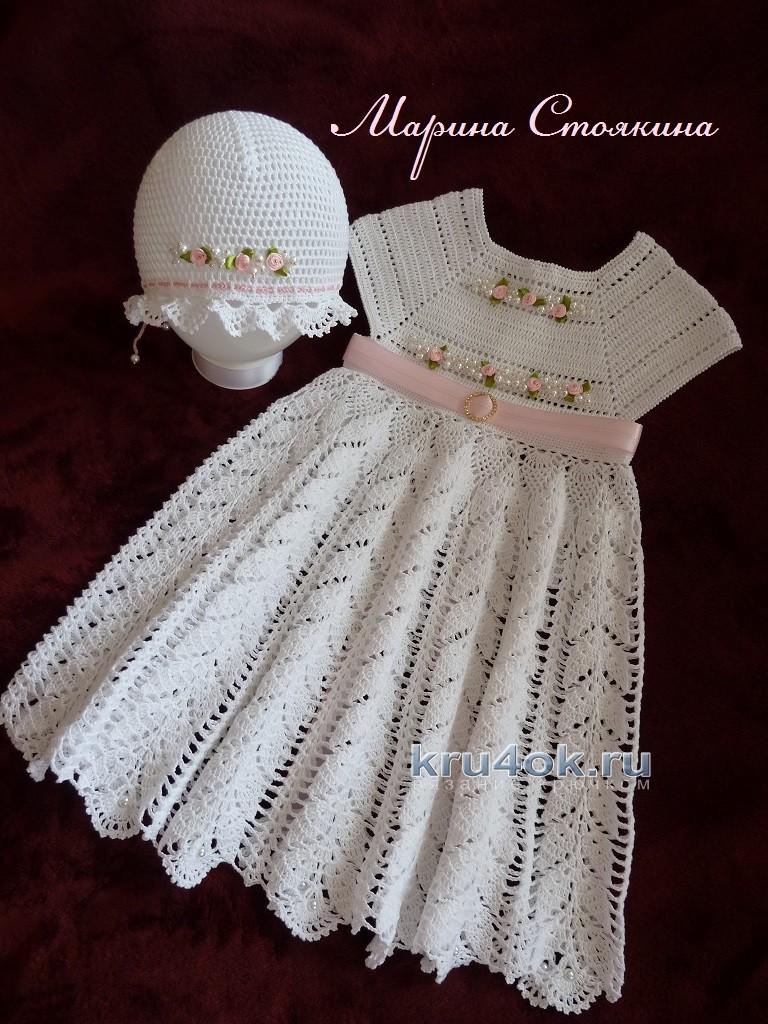 Красивые детские платье схема крючком схема фото 446