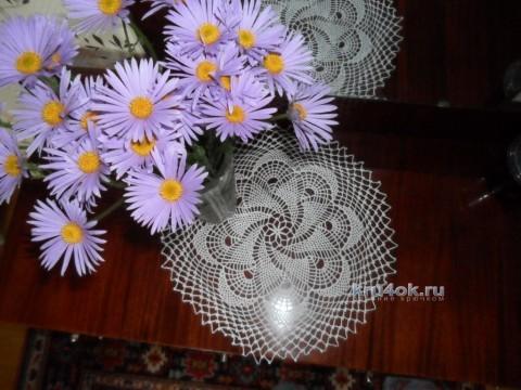 Салфетки крючком - работы Альбины Петровны вязание и схемы вязания