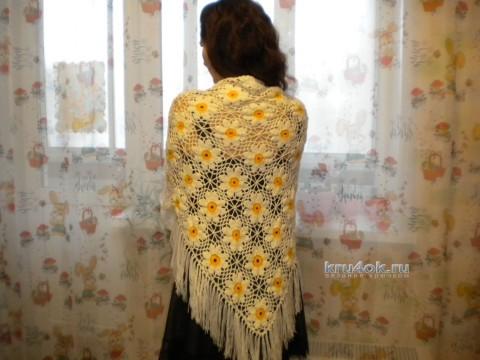Шаль крючком - Работа Нины вязание и схемы вязания
