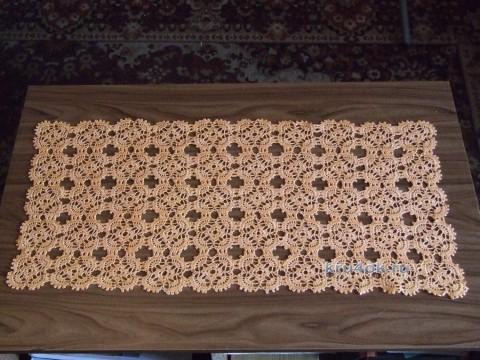 Скатерть - дорожка крючком. Работа Галины вязание и схемы вязания