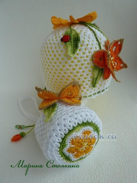 Сумочка и шапочка для девочки - работы Марины Стоякиной вязание и схемы вязания
