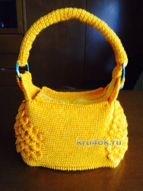 Сумочка крючком - работа Елены вязание и схемы вязания