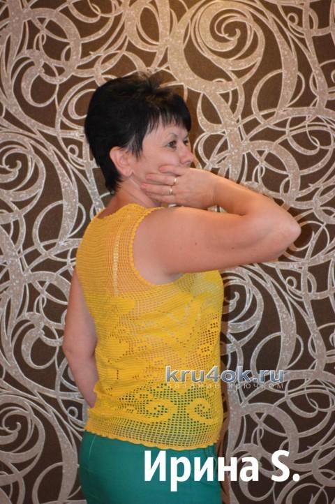 Топ в филейной технике - работа Ирины Стильник вязание и схемы вязания