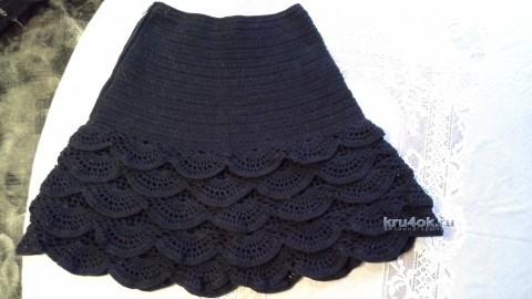 Вязаная крючком юбка - работа Ярославской вязание и схемы вязания