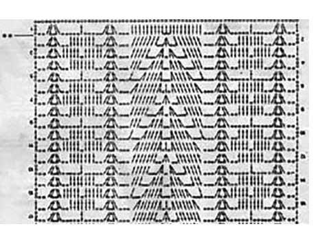 Схемы вязания туники: