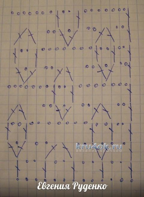 Ажурная кофточка крючком - работа Евгении Руденко вязание и схемы вязания