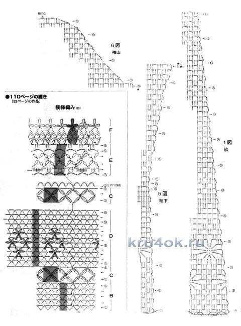 Схемы ажурного вязания кардигана крючком