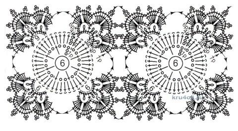 Ажурный жакет крючком - работа Евгении Руденко вязание и схемы вязания
