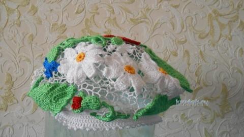 Берет в технике ирландского кружева - работа Светланы вязание и схемы вязания