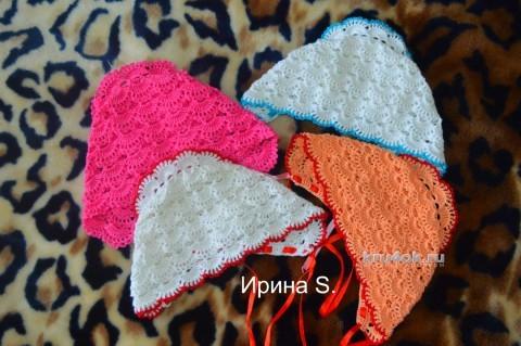 Чепчик для новорожденного - работа Ирины Стильник вязание и схемы вязания