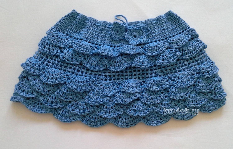 Как связать красивую юбку для девочки спицами с описанием