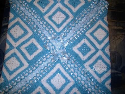 Детский плед крючком - работа Евгении Руденко вязание и схемы вязания