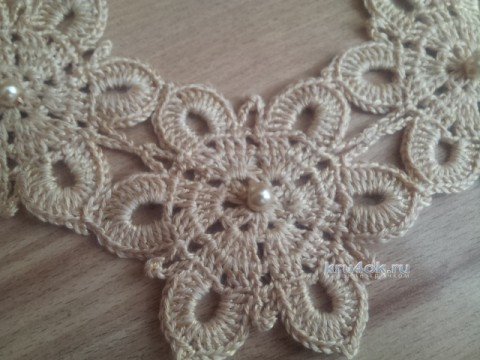 Колье снежинка связанное крючком вязание и схемы вязания