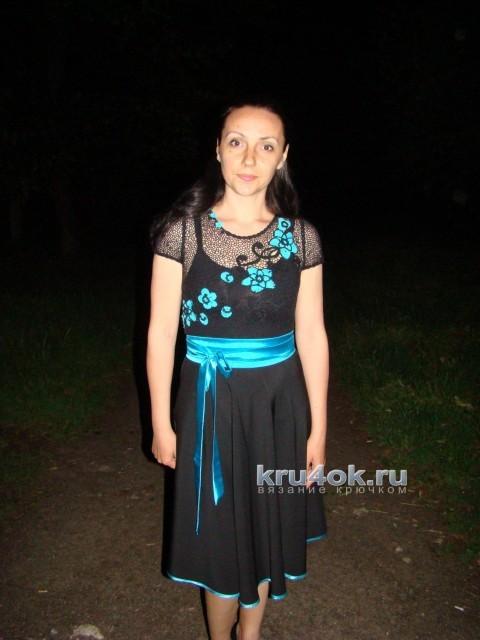 Комбинированное платье - работа Евгении Руденко вязание и схемы вязания