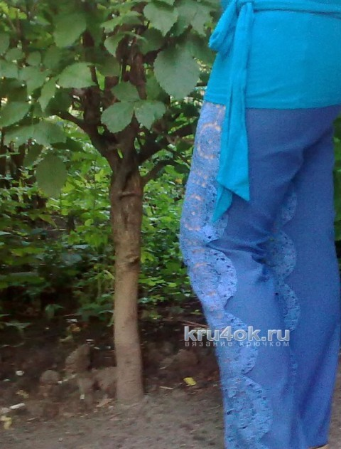 Комбинированные брюки - работа Аллы вязание и схемы вязания