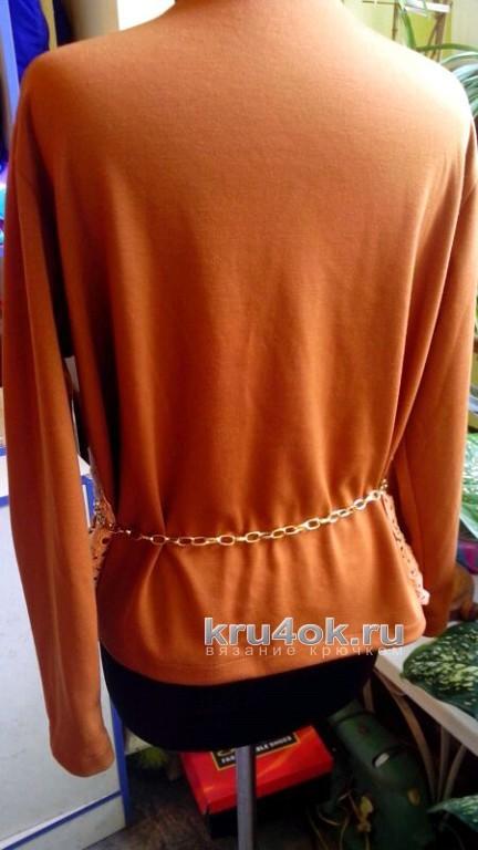 Комбинированный свитер - работа Аллы вязание и схемы вязания