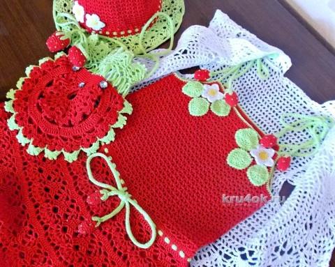 Комплект для девочки - работа Люси вязание и схемы вязания